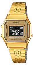 Casio LA680WGA-9B Ladies Gold Tone Digital Watch Mid-Size Retro Vintage New
