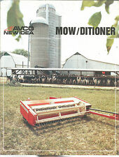 1980 NEW IDEA TRACTOR HAY MOWER CONDITIONER  BROCHURE
