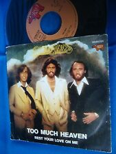 BEE GEES - TOO MUCH HEAVEN - PORTUGAL 45 FREE SHIPPING