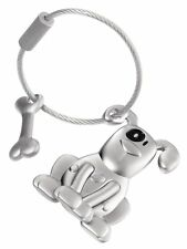 Troika Metal Keyring PETE the DOG and bone key chain ring cast alloy KR1021MA