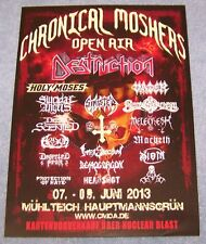 Chronical Moshers Open Air 2013  - Promotion Flyer - Mühlteich / GER - cancelled