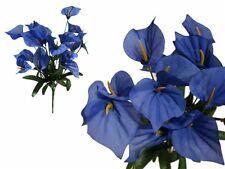 252 Royal Blue MINI CALLA LILY Wholesale Wedding Flowers Bouquets Centerpieces