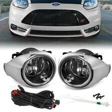 For 2012-2014 Ford Focus Chrome Clear Driving Fog Lights Bumper Lamps & Switch