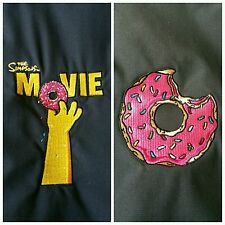 RARE THE SIMPSONS MOVIE 2007 Cast and Crew Black Columbia Jacket Eaten Donut XL