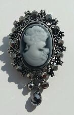 NEW Cameo victorian vintage edwardian style Brooch Pin (3cm by 5cm)