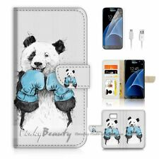Samsung Galaxy S7 Flip Wallet Case Cover P1907 Panda