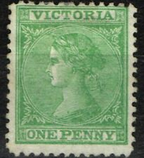 Victoria 1867 1d Brt Yellow-Green SG131 P.13 Fine & Fresh Mtd Mint
