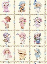Sunbonnet Emma & Friends Cream Panel by Amy Morehead, Elizabeth's (By Panel)