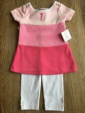 NWT Juicy Couture Baby Pink Leggings Set Of Two , Size 18/24 M
