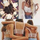 Women Sexy Padded Bra Crop Tops Blouse Vest Cut Out Shirt Summer Beach Tank
