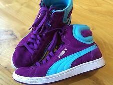 PUMA LADIES FIRST ROUND SUPER ECO BASKETBALL 1980s RETRO TRAINERS UK 4.5 eu 37.5