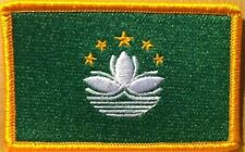 Macau Flag Embroidery Iron-On Patch China Province Military Emblem Gold Border