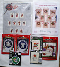 Lot of 7 Christmas / Winter Counted Cross Stitch Kits & 1 Pattern