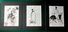 3 Stück Malerei  Chinesische Malerei Aquarell Bestellbar Bambus Fengshui Bilder