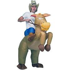 Brown Cowboy Rider Horse Funny Inflatable Costume Halloween Carnival For Adults