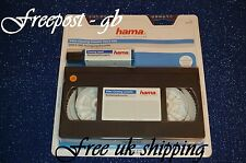 Qualità Hama VHS & S-VHS Video WET & DRY HEAD CLEANER pulisce anche teste Audio