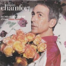 CD CARTONNE CARDSLEEVE ALAIN CHAMFORT 2T QU'EST CE QUE T'AS FAIT ... NEUF SCELLE