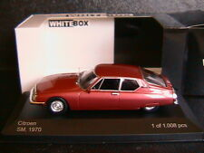 CITROEN MASERATI SM 1970 RED METAL WHITEBOX WB026 1/43 LEFT HAND DRIVE ROSSO ROT