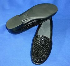 SAS 7.5 S SLIM BLACK CROC PATENT LEATHER SIMPLIFY SHOE WOMENS LOAFER BB