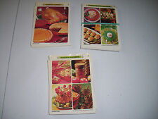 Set of 3 Betty Crocker Recipe Card Salad, Seasonal, American Classic 1971
