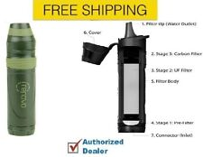 New Renovo Trio 3 Stage Water Filter & Purifier Straw Portable Water Filtration