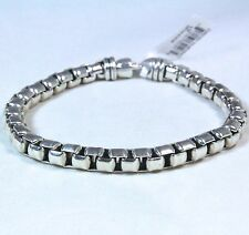 "New David Yurman Men's Extra Large Box Chain Bracelet Sterling Silver 8.75"" $495"