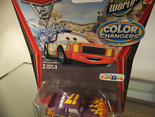 DISNEY Pixar Cars DARRELL CARTRIP modulatori di colore WORLD GRAND PRIX Annunciatore!