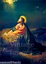 Jesus Christ in the Garden of Gethsemane Sacred picture of the.Savior Poster