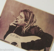 The Nirvana Lead Singer Kurt Cobain Music Poster Old Retro Vintage Collection