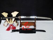 battle ready naginata katana sword dragon tsuba 9260 spring steel blade sharp
