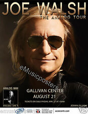 "Joe Walsh ""The Analog Tour"" 2012 Salt Lake Concert Poster - The Eagles Guitarist"