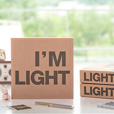 Uniq I'm Light Large Thick Recycled Kraft Paper Notebook Blank Journal Drawing