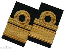 A SET (TWO PAIRS) OF NAVY REAR ADMIRAL (UPPER HALF) HARD & SLIP shoulder boards