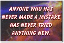 Anyone Who Has Never Made a Mistake - NEW Classroom Motivational POSTER