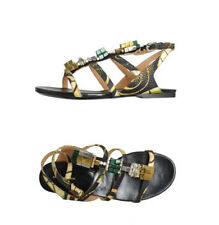 NIB DRIES VAN NOTEN  jeweled flat sandals 37