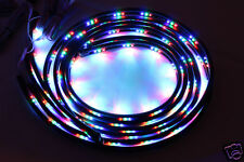 7 Color LED Strip Under Car Tube Underglow Underbody Glow System Neon Lights Kit