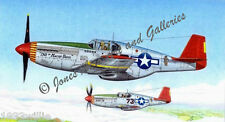 """Tuskegee Airmen P-51 """"Gruesome Twosome"""" Limited Edition Prints by Willie Jones"""