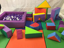 Complete 20 Piece Soft Play Set - Mats - Ball Pond -Balls ready to hire or home
