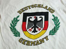 Vintage Deutschland Germany German Logo Crest Tourist T Shirt M