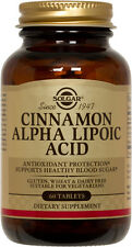 Solgar Cinnamon Alpha Lipoic Acid 60 Tablets