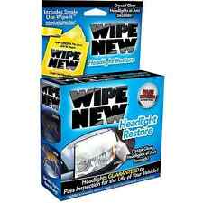 Wipe New Headlight Restore As Seen on TV Fast Crystal Clear Brite Headlights NEW