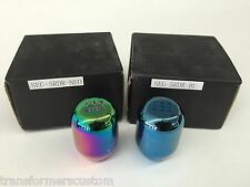 Universal 5 or 6 Speed BLUE or NEO Chrome TITANIUM Gear Shift Knobs