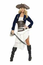 Roma Deluxe 6pc Colonial Pirate Sexy Sassy Adult Women's Costume size Small