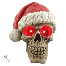 SKULL CHRISTMAS SILENT NIGHT WITH HAT ON NEW FROM NEMESIS NOW BOXED RED EYES