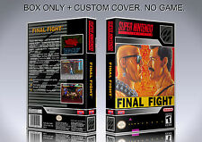 FINAL FIGHT. NTSC VERSION. Box/Case. Super Nintendo. BOX + COVER. (NO GAME).