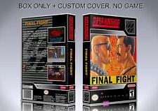 FINAL FIGHT. NTSC VERSION. Box/Case. Super Nintendo. BOX + COVER. (NO GAME).