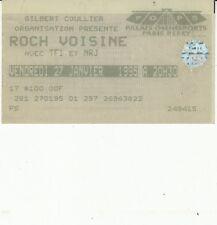 BILLET CONCERT ROCH VOISINE  (PALAIS OMNISPORTS PARIS BERCY 27 JANVIER 1995)