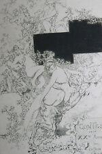 1896 Uzanne Contes XXe année Ecole des Faunes Daniel Vierge état rare Japon