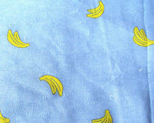 Fat quarter blue kawaii cute banana print linen medium weight cotton fabric