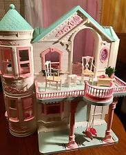 Vintage Mattel Barbie Doll Victorian Dream House W/Elevator Original Furniture